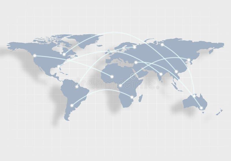 Старый Мир карты иллюстрации иллюстрация вектора