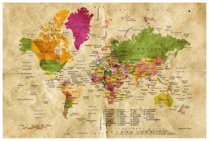 Старый Мир карты иллюстрации иллюстрация штока