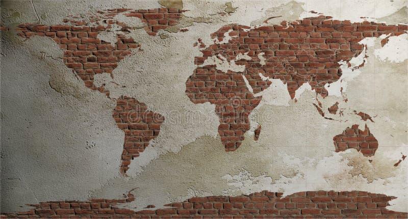 Старый Мир карты иллюстрации стоковое фото