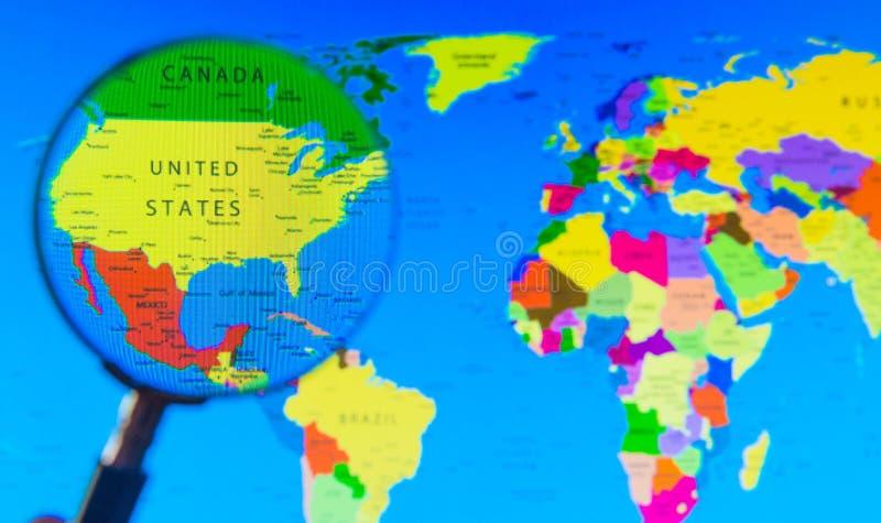 Старый Мир карты иллюстрации стоковое изображение rf