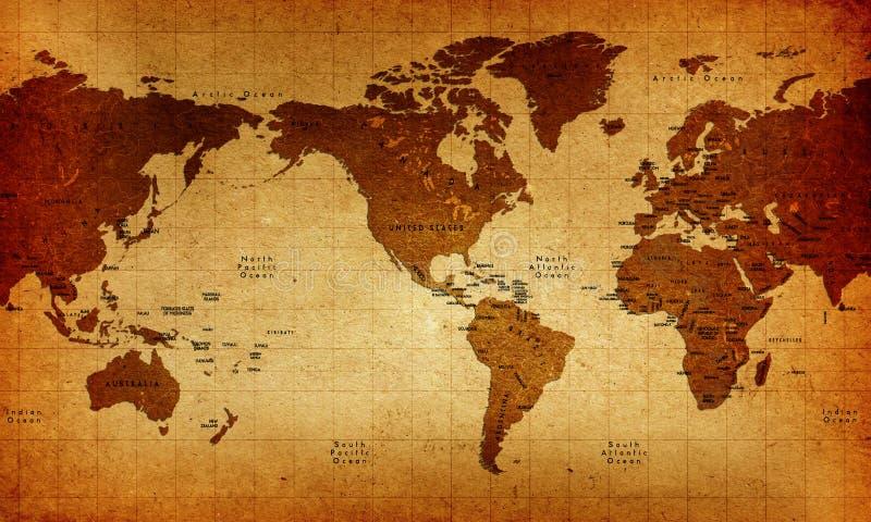Старый Мир карты иллюстрация штока