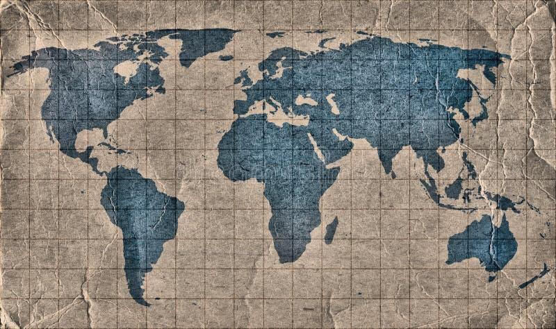 Старый Мир карты grunge бесплатная иллюстрация