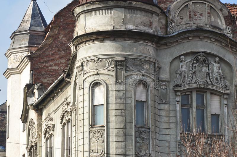 Старый многоквартирный дом стоковая фотография rf