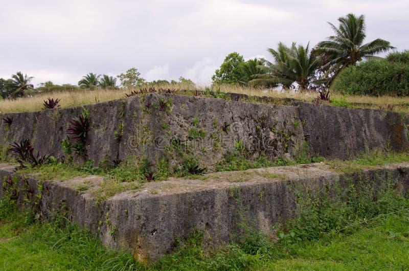 Старый могильник, Тонга стоковое изображение