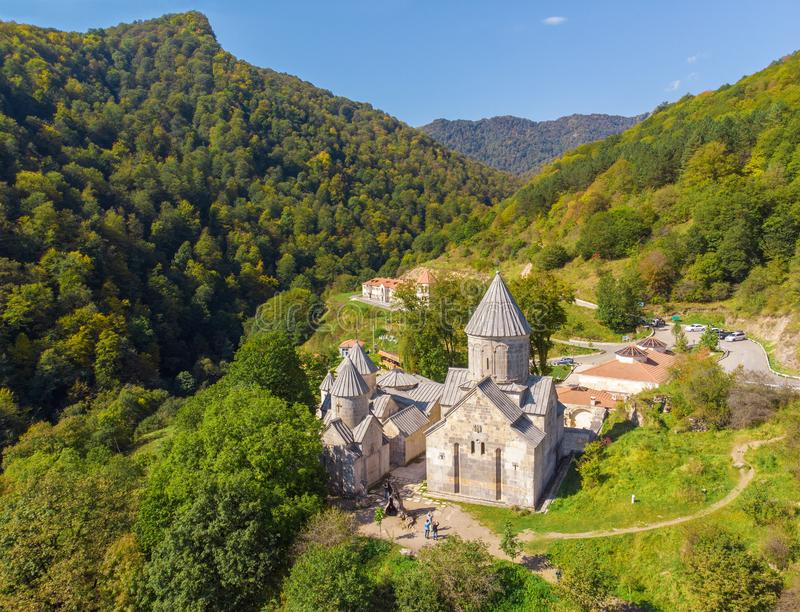 Старый монастырь Haghartsin Армении стоковое фото