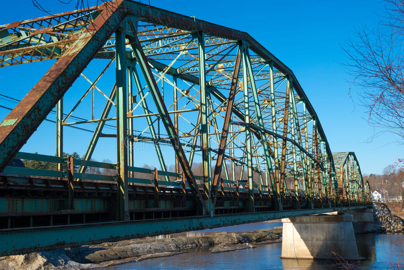 Старый мост в Мейне стоковое фото