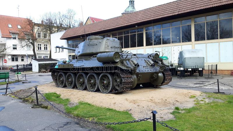 Старый немец Panzer стоковые фото