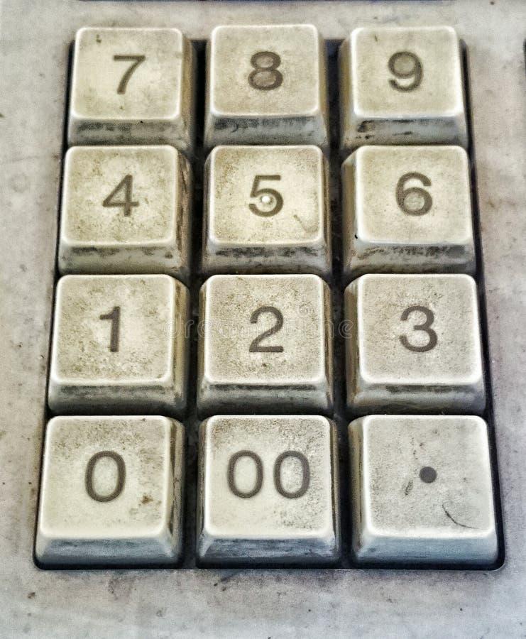 Старый номер кнопки на калькуляторе стоковое изображение rf