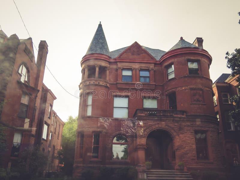 Старый дом архитектурноакустическое Луисвилл Кентукки стоковые изображения rf