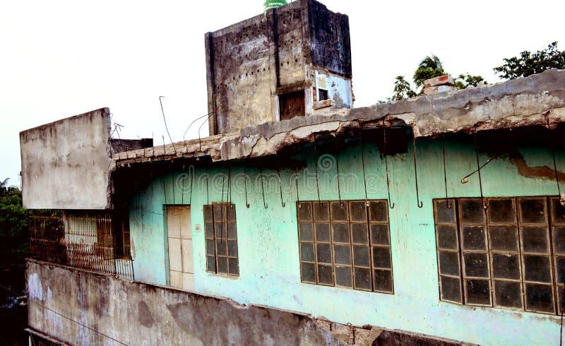 Старый дом войны стоковое изображение rf