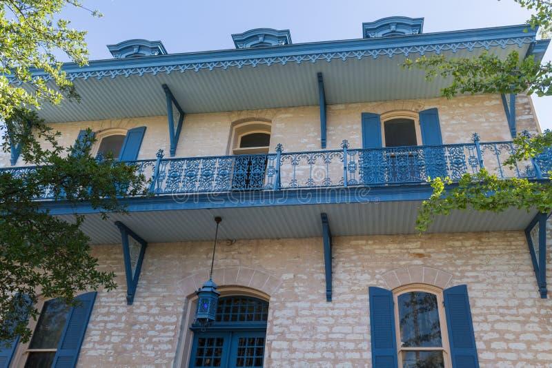 Старый дом в центре Остина Техаса стоковые изображения rf