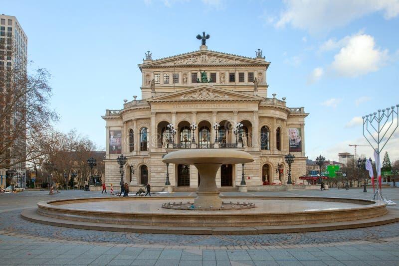 Старый оперный театр в Франкфурте, Германии стоковое изображение