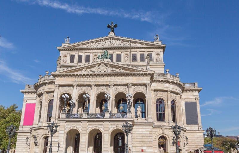 Старый оперный театр в Франкфурте-на-Майне Hesse Германии стоковые изображения rf