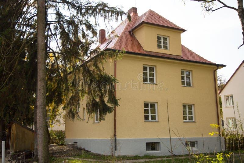 Старый особняк в Германии, раковина в Германии стоковая фотография rf