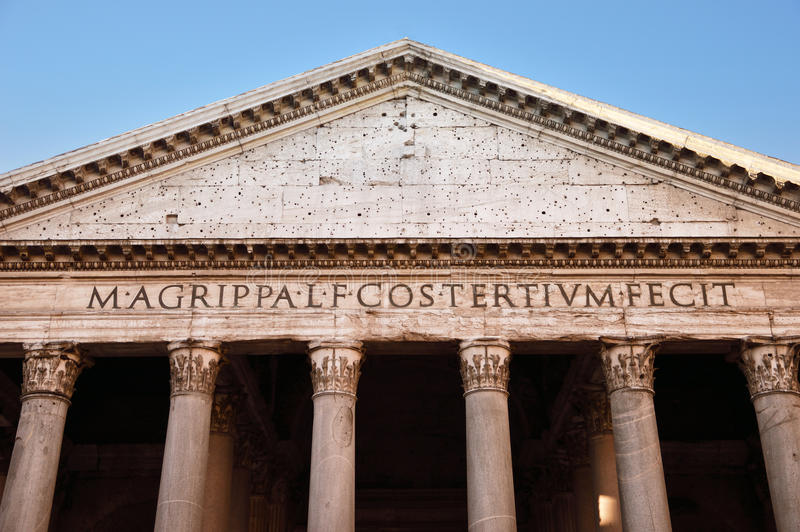 Старый пантеон в Риме, Италии стоковое фото