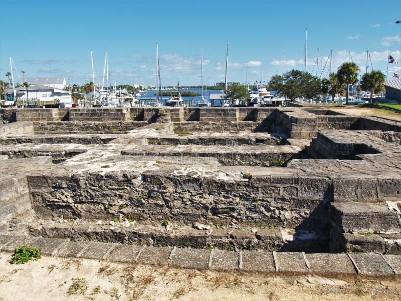Старый парк форта в новом пляже Smyrna стоковые изображения