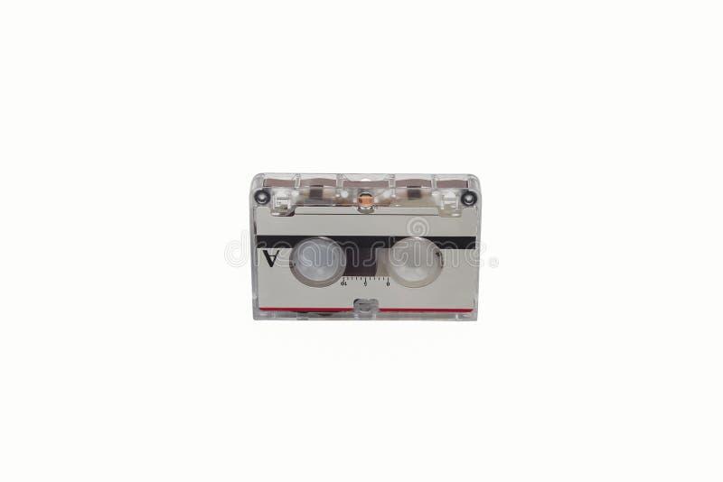 Старый патрон кассеты на белизне стоковое изображение rf
