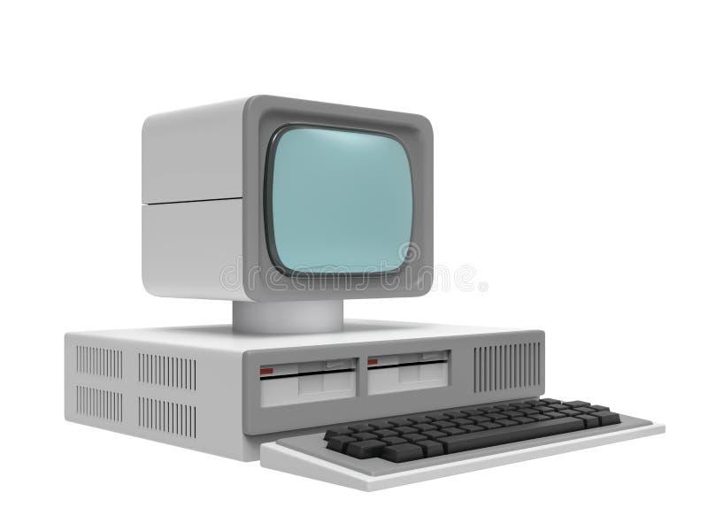 Старый персональный компьютер иллюстрация вектора