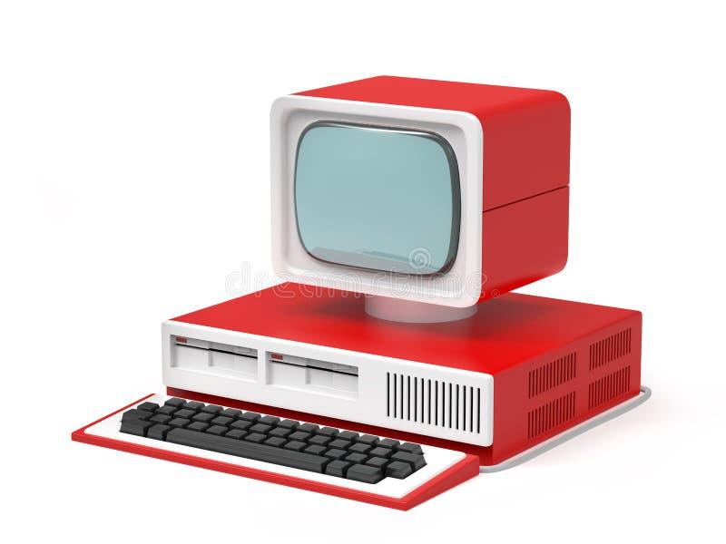 Старый персональный компьютер бесплатная иллюстрация