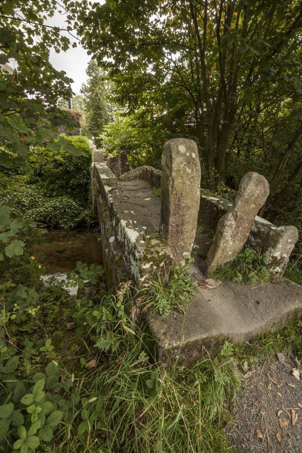 Старый пешеходный мост около падений Linton стоковые изображения