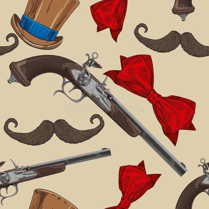 старый пистолет иллюстрация штока