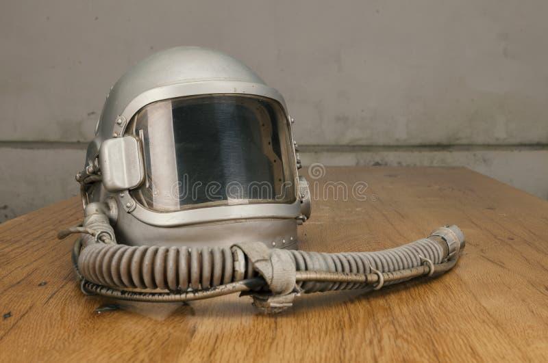 Старый пилотный шлем стоковая фотография