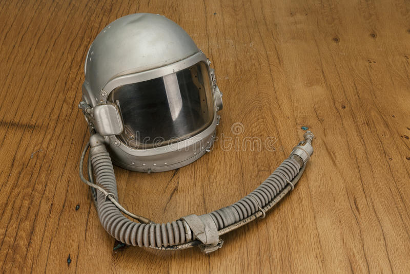 Старый пилотный шлем стоковое фото rf