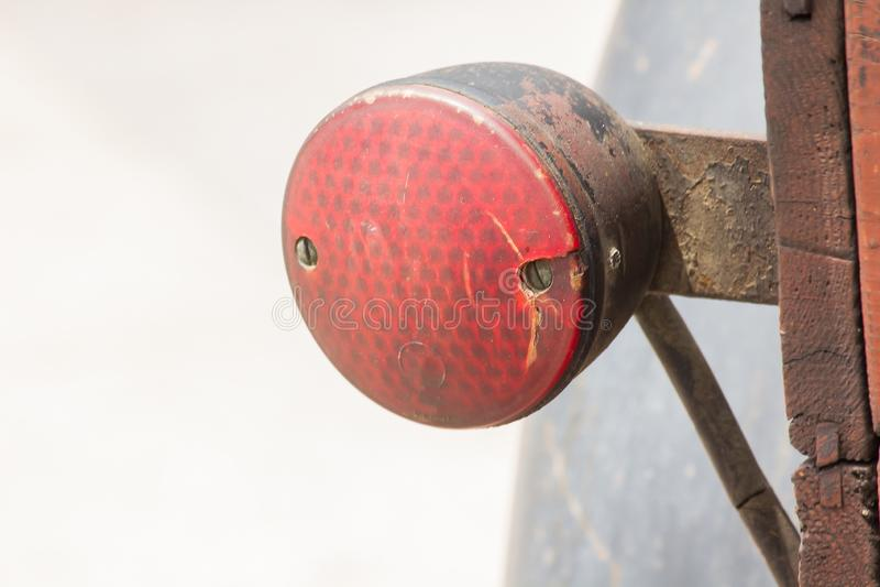 Старый поворотник, античный автомобиль, много лет стоковые изображения rf