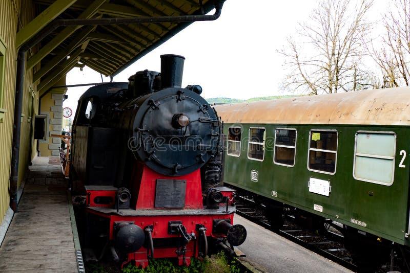 Старый поезд в Германии стоковое изображение