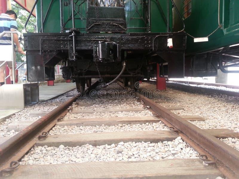 Старый поезд в hk стоковое изображение rf