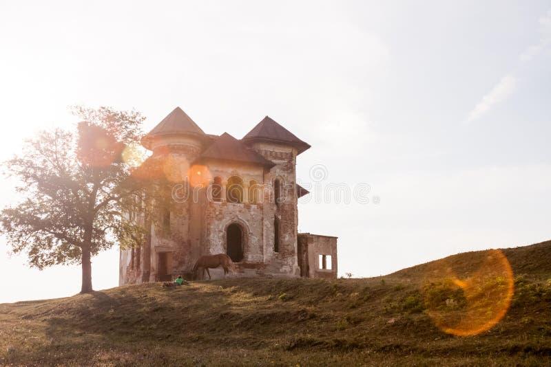 Старый, покинутый, загубленный дом стоковые изображения rf