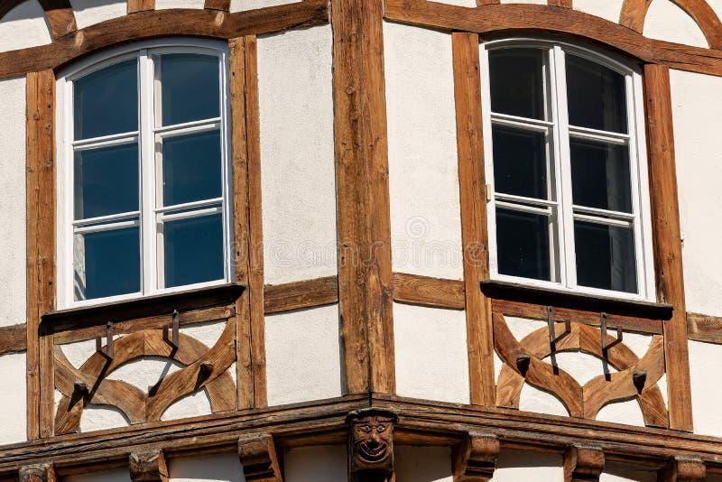 Старый полу-timbered дом - Бавария Германия стоковое изображение rf