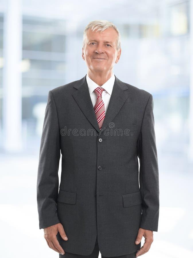 Старый портрет бизнесмена стоковые фотографии rf