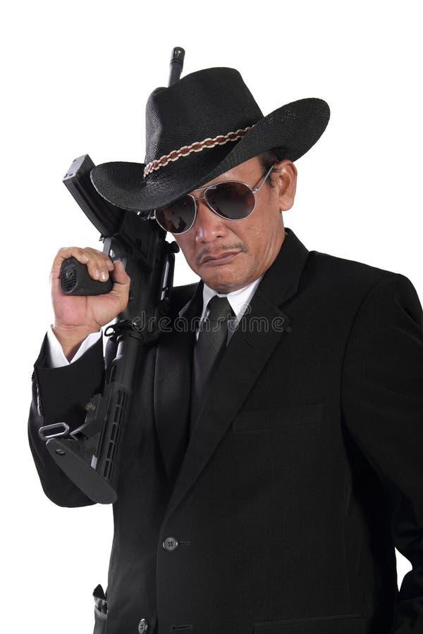 Старый портрет гангстера стоковое фото
