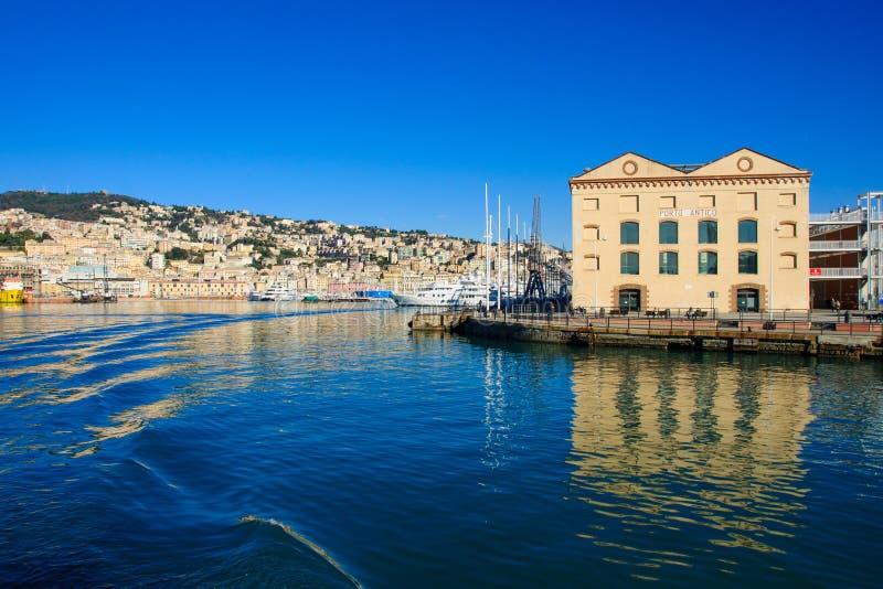 Старый порт, Генуя стоковая фотография