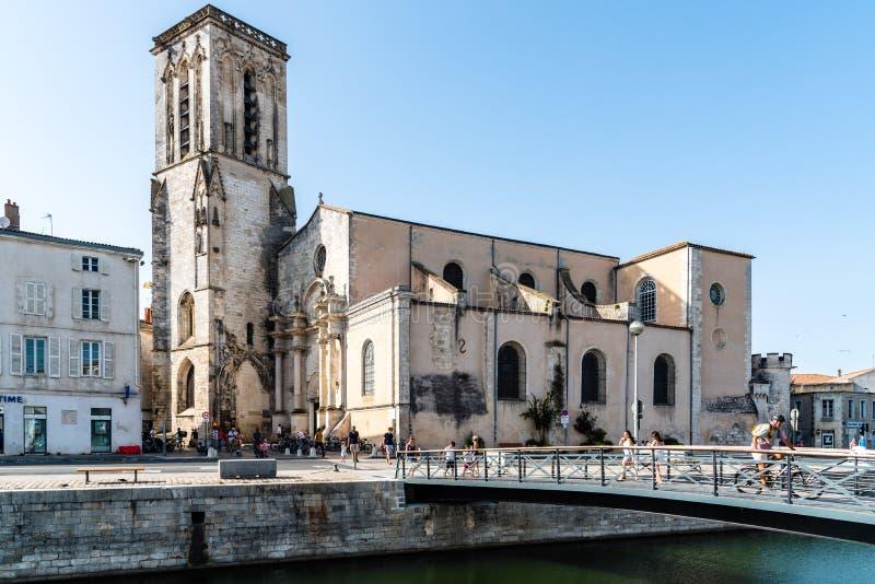 Старый порт La Rochelle во Франции стоковая фотография rf