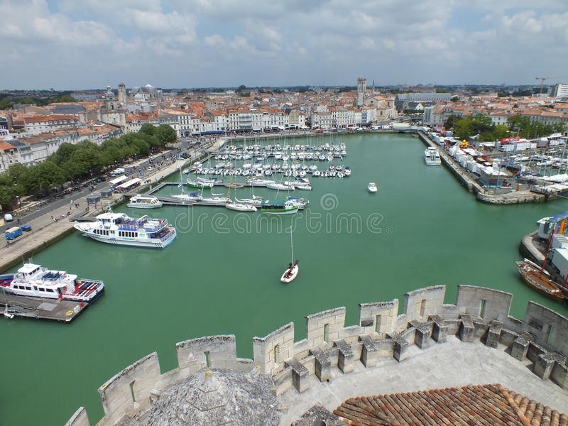 Старый порт La Rochelle стоковые изображения
