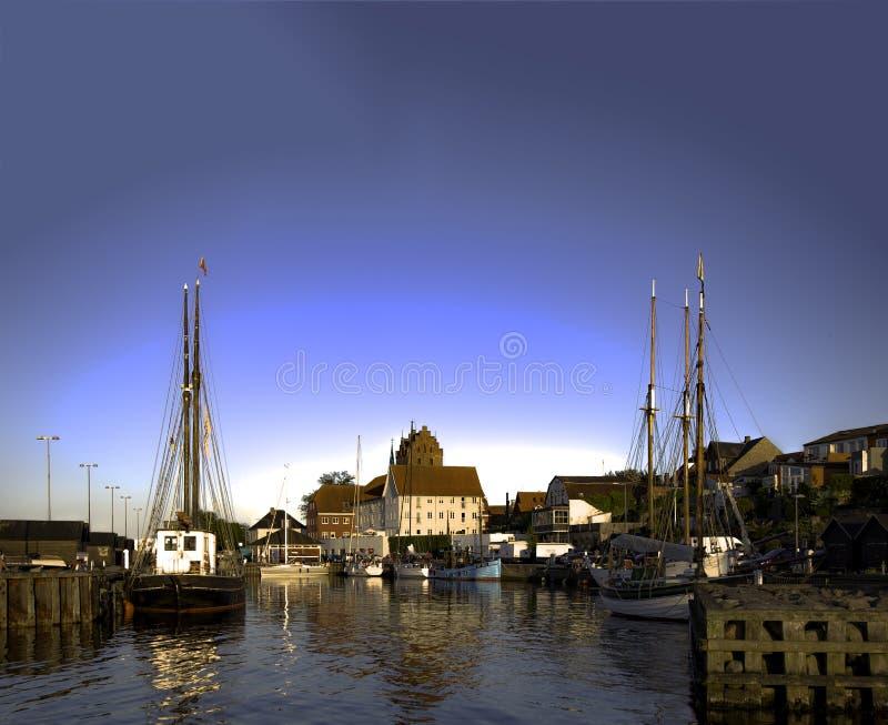 Старый порт Middelfart стоковые изображения
