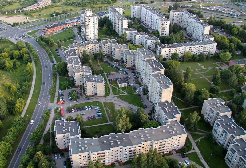 Старый пригород в Вильнюсе стоковое фото rf