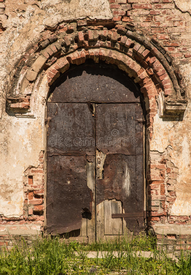 Старый план rnego двери стоковое изображение rf
