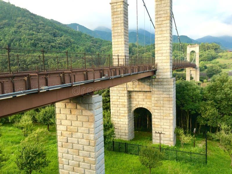 Старый разрушенный мост стоковая фотография
