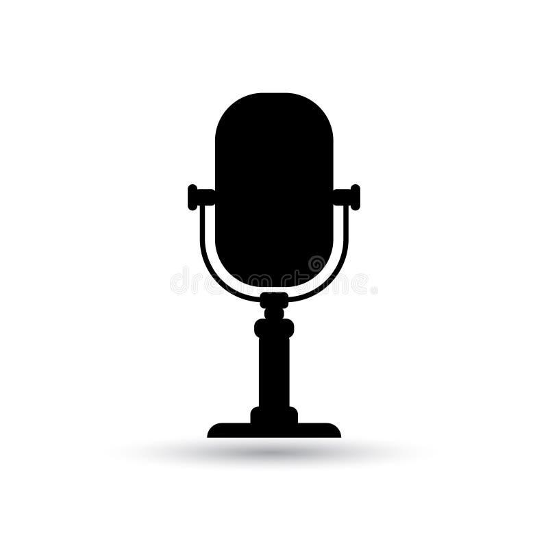 Старый ретро вектор микрофона радио стоковое изображение rf