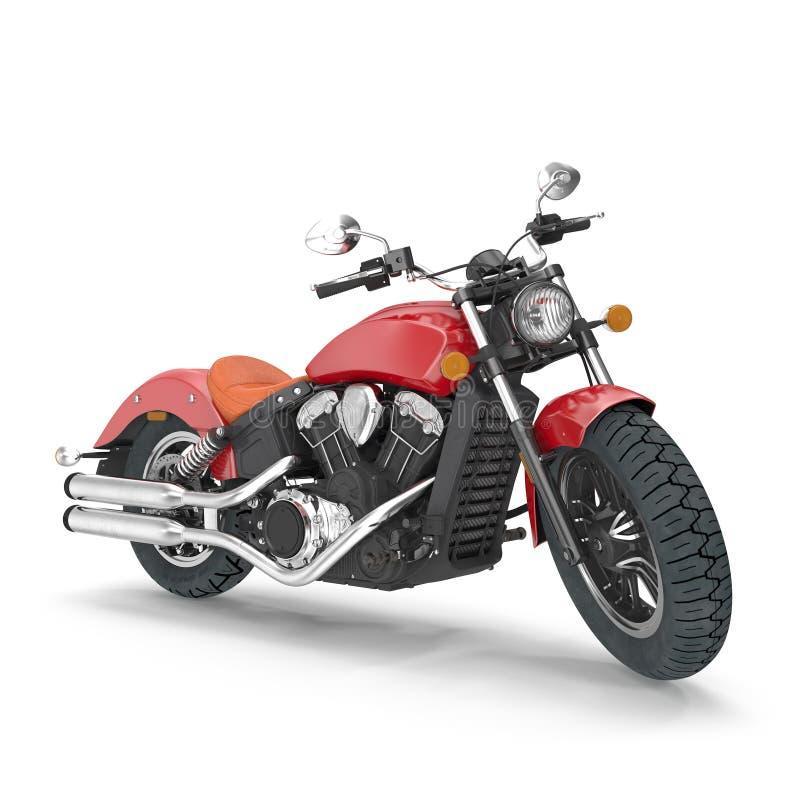 Старый ретро мотоцикл изолированный на белизне иллюстрация 3d бесплатная иллюстрация