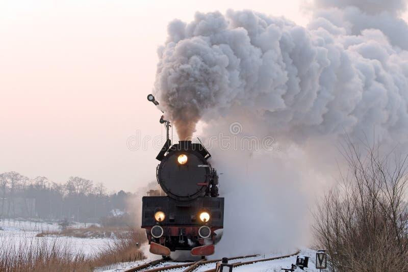 старый ретро поезд пара стоковое фото rf