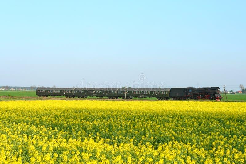 старый ретро поезд стоковое изображение
