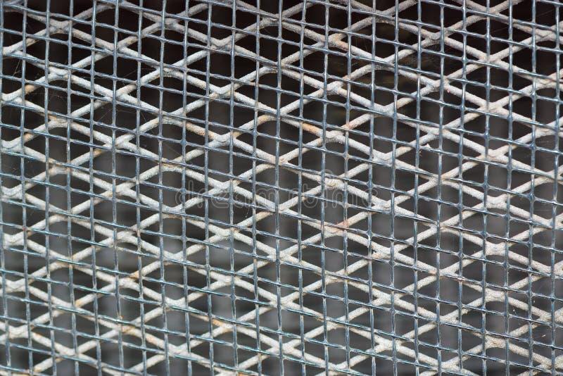Старый ржавый вид решетки металла, металлическая сетка, стоковые изображения rf