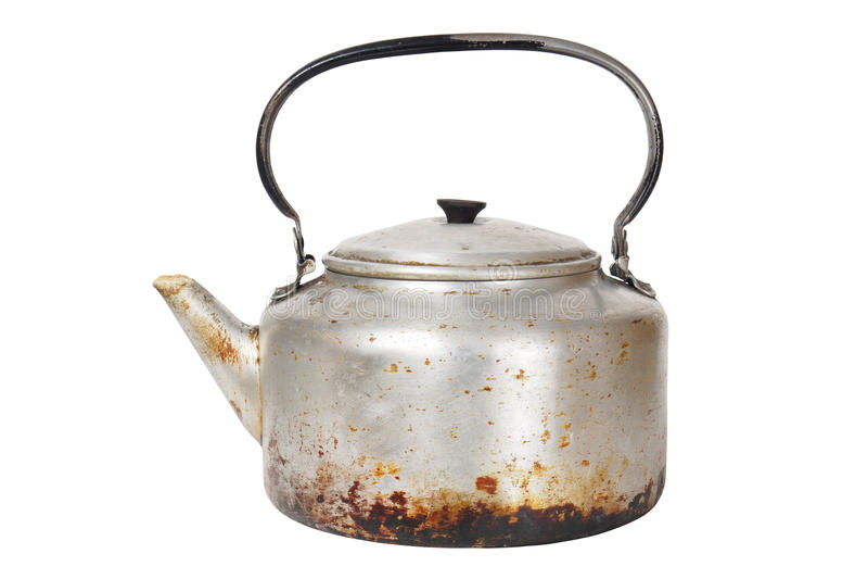 Старый ржавый чайник стоковые фото
