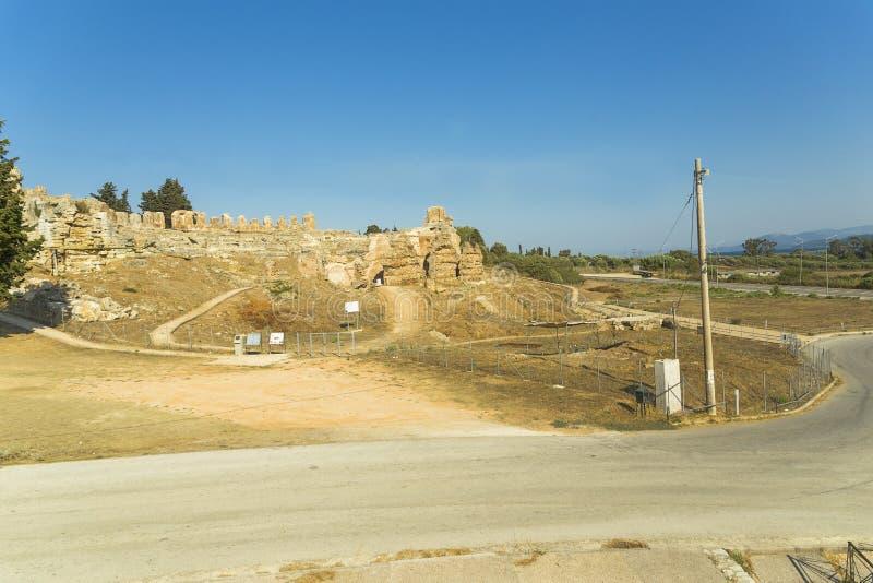 Старый римский театр в Nikopolis Preveza Греции стоковое изображение rf