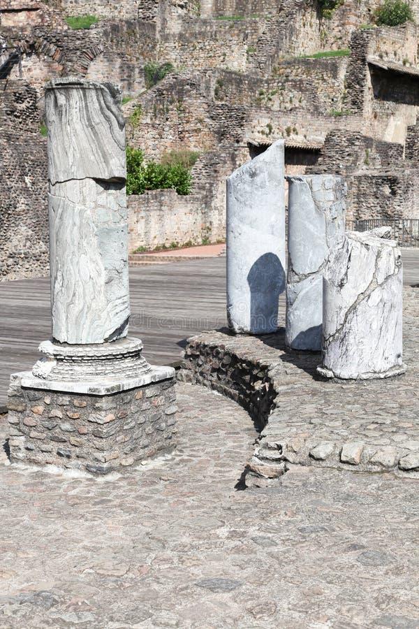 Старый римский театр Fourviere в Лионе стоковые фото