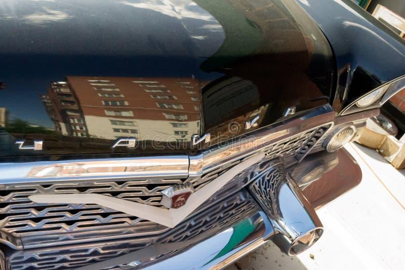 Старый русский классический автомобиль репрезентивного класса произвел внутри стоковое изображение rf